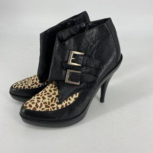 Jeffrey Campbell | Leather Whip Ankle Boots
